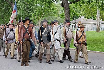 Group of Civil War Reenactors Editorial Stock Photo