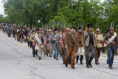 Group of Civil War Reenactors Editorial Stock Image