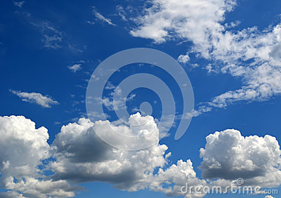 Group of clouds in blue sky