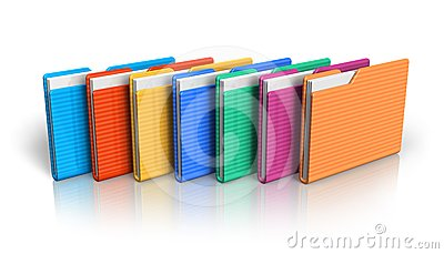 Group of color folders