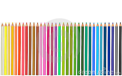 Group of colored pencils.