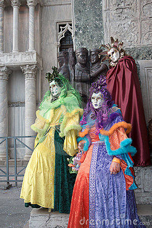 Group of colorful mask, venice