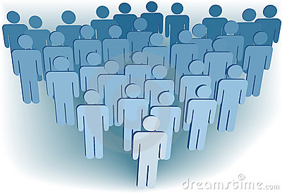 Group company population of 3D symbol people