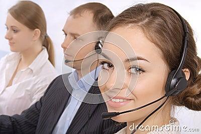 Group of customer service representativ