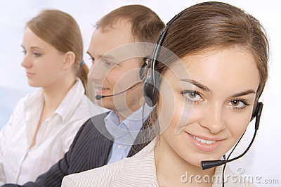 Group of customer service representativ