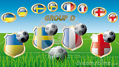 Group D - Ukraine, Sweden, France, England