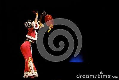 Group dance : Red Lantern Editorial Stock Image