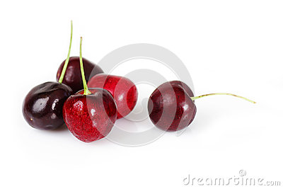 Group of delicious cherries
