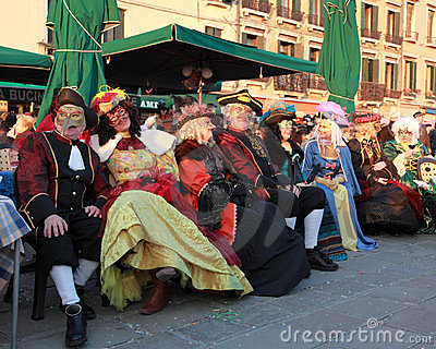 Group of disguised people Editorial Image