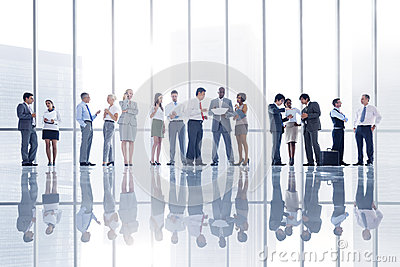 Group of Diverse Business People in the City