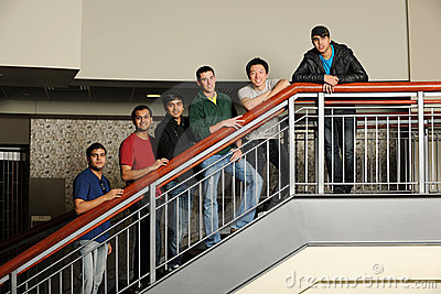 Group of Diverse College Students
