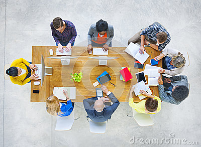 Group of Diverse Various Occupations People Meeting Stock Photo