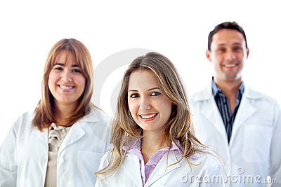 Group of doctors isolated