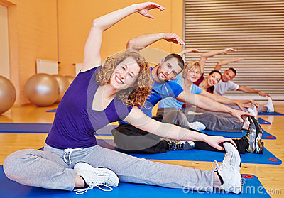 Group doing stretching exercises