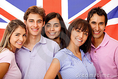 Group of English students
