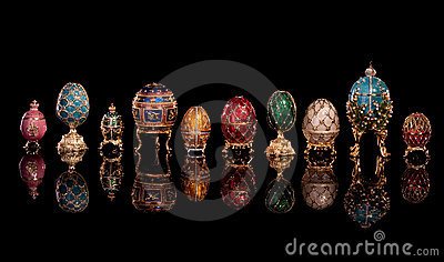 Group Faberge eggs.