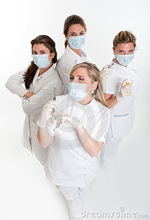Group of female dentists