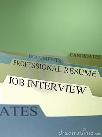 Group of folders file for job applications