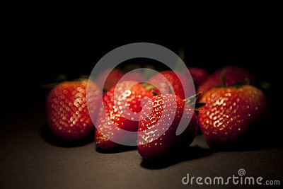 Group of fresh red strawberry