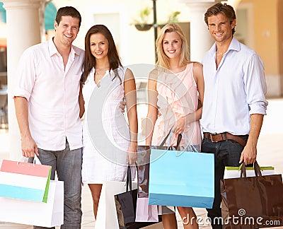 Group Of Friends Enjoying Shopping Trip