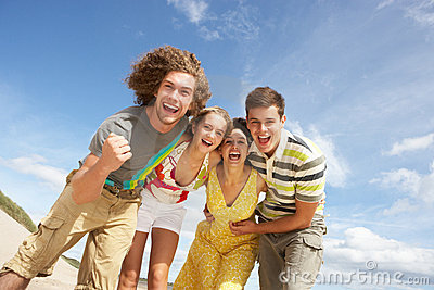 Group Of Friends Having Fun O
