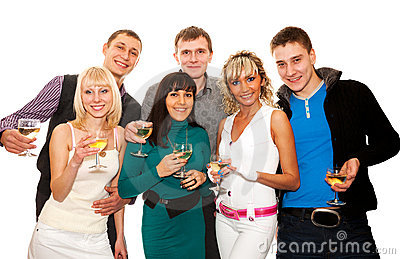 Group of friends at a party
