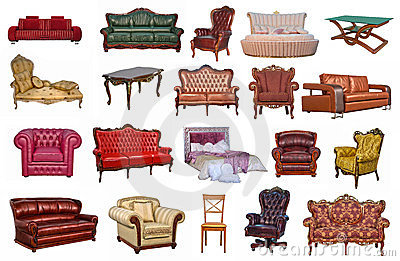 The group of furniture