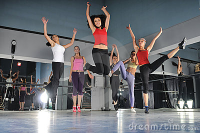 Group Of Girls Jumping In Air Royalty Free Stock Images - Image: 7269449