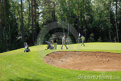 Group of Golfers at Country Club Editorial Stock Photo