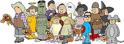 Group of Halloween kids 3