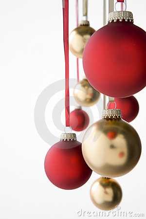 Group Of Hanging Christmas Decorations Stock Photos - Image: 6884033