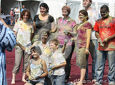 Group After Holi Celebration Editorial Stock Image