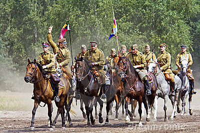 Group of horse riders Editorial Stock Photo