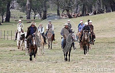 Group of horseriders