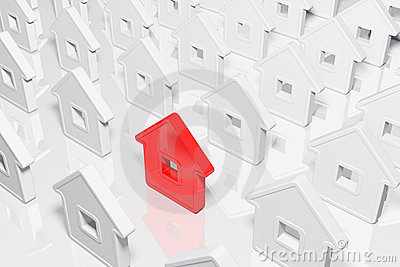 Group houses abstract form
