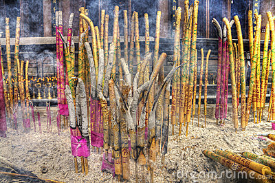 A group of incense sticks