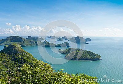 Group of Islands in the south of Thailand