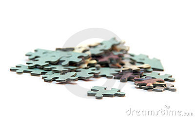 Group of jigsaw pieces
