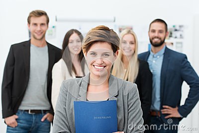 Group of job applicants