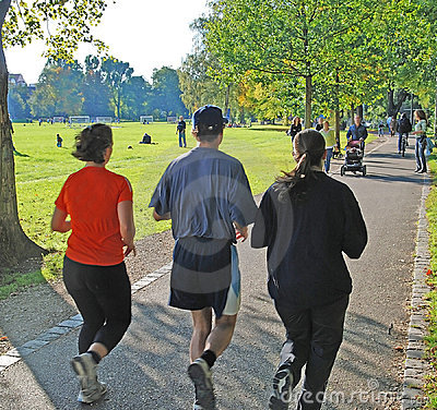 Group of joggers