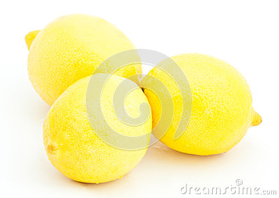 Group of juicy lemons