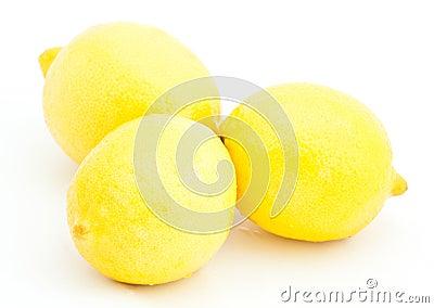 Group of juicy lemons