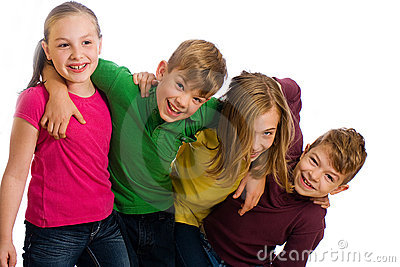 Group of kids having fun