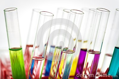 Group of laboratory test tubes