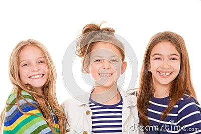 Kids happy smiles