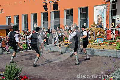Group of mans dance in bavaria Editorial Photo
