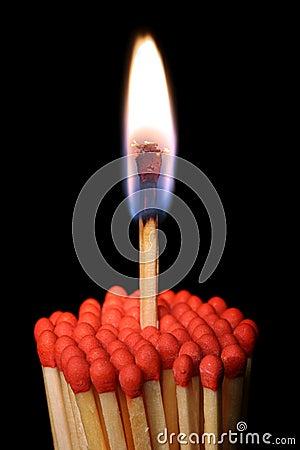 Group of matchsticks