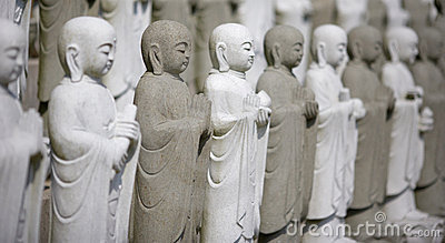 Group Of Meditating Buddhas
