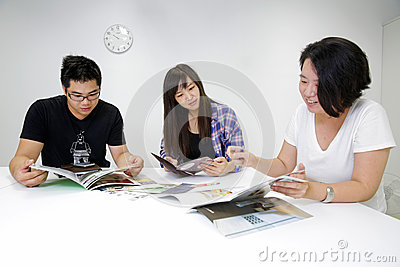 Group meeting Editorial Stock Photo