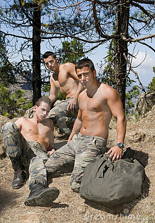 Hot gay military